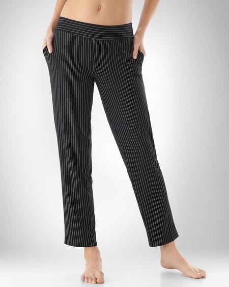 Pinstripe Black Narrow Leg Pant