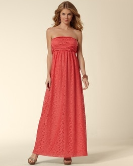 Lace Bandeau Maxi Dress