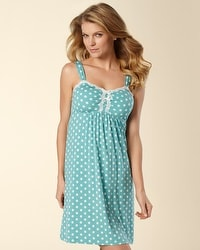 Embraceable Cool Nights Big Dot Teal PJ Chemise