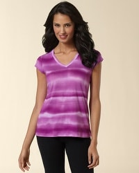Watercolor Stripe Short Sleeve Tee