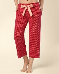 Embraceable Mod Dot Ruby Tabbed PJ Crop