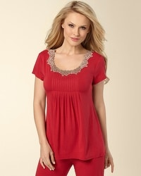 Embraceable Ruby Short Sleeve Top