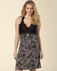 Untamed Animal Print Lace Back Chemise