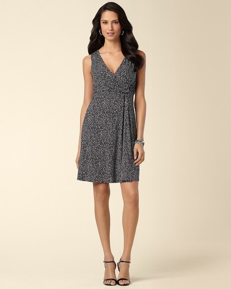 Dainty Print Side Twist Dress