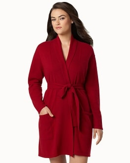 Artlotta Short Cashmere Robe Bordeaux