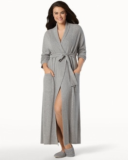 Arlotta Long Cashmere Robe Heather Grey
