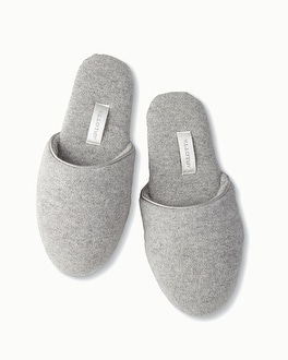 Arlotta Cashmere Slippers Heather Grey