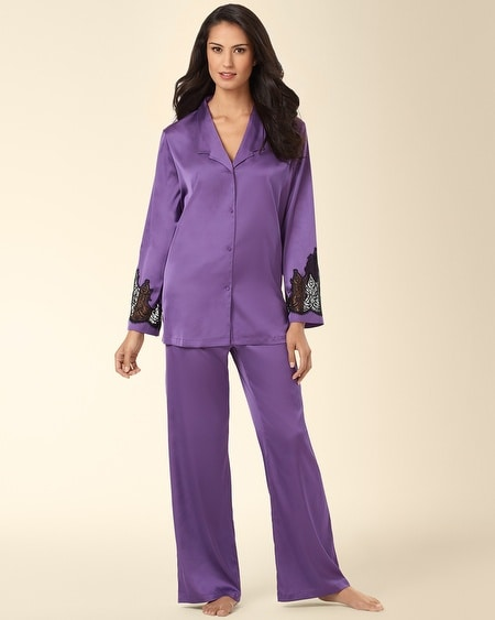Satin Charmeuse Pajama Set Violet