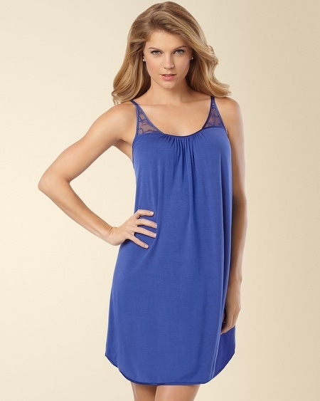 Always on My Mind Sleep Chemise Sapphire