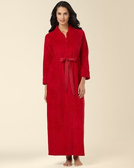 Long Zip Robe Ruby