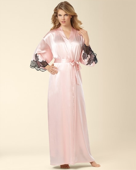 Silk Long Robe Sugar Pink