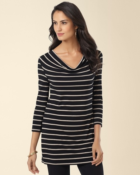 Drape Tunic Energy Stripe
