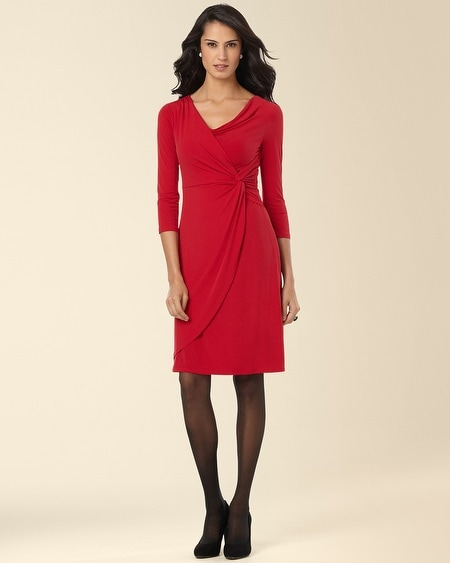 Side Twist Dress Ruby