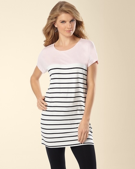 Dolman Sleeve Tunic Fundamental Colorblock