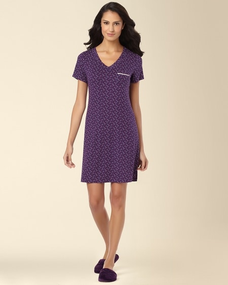 Short Sleeve Sleepshirt Mini Multi-Dot