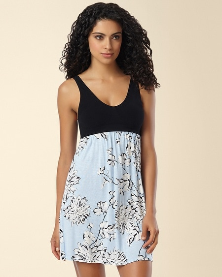 Sleep Chemise Evening Dahlias Skyway