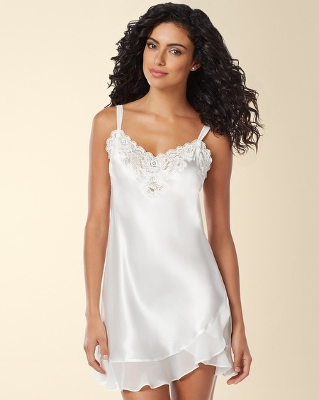 Evening Bliss Sleep Chemise Pearl Size: 1X-3X