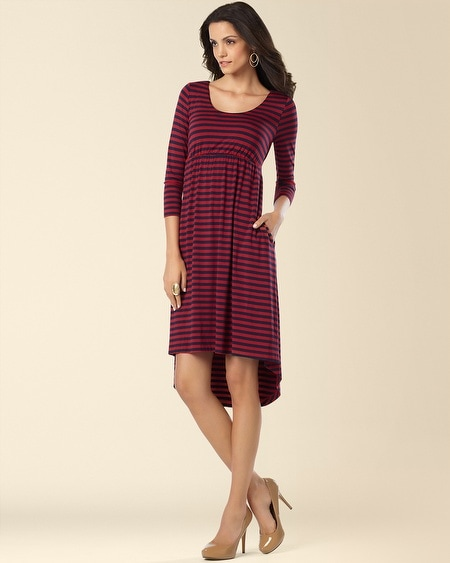 Hi Low Dress Shoreline Stripe