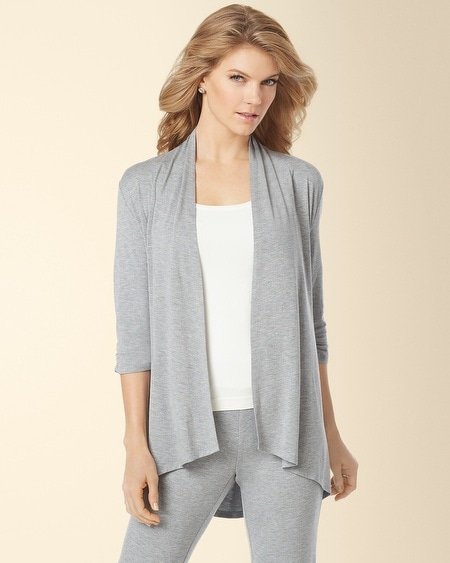 Open Wrap Coverup Heather Silver