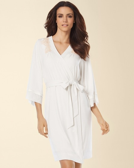 Treasured Short Robe Ivory