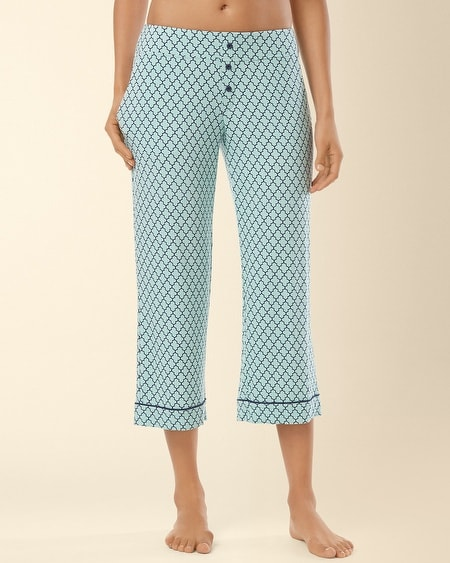 Crop Pajama Pant Surfside Tile Pale Jade