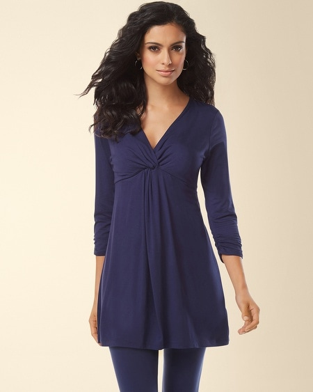 Knot Front Tunic Navy