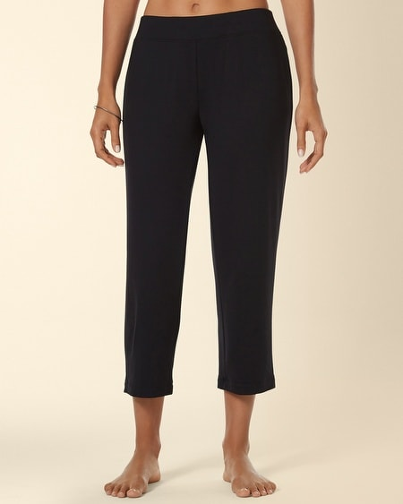 Divine Terry Crop Pant Black