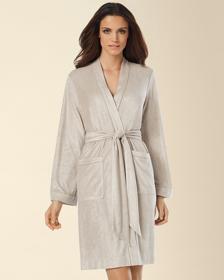 Bamboo Terry Short Robe Sandal