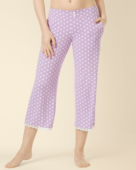 Crop Lace Pajama Pant Big Dot Faded Orchid