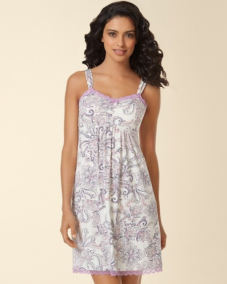 Lace Sleep Chemise Passport Paisley Ivory