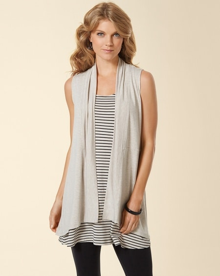 Sleeveless Cover Up Heather Sandal