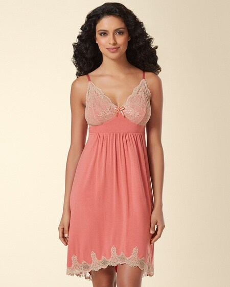 Ornamental Scroll Lace Sleep Chemise Japanese Maple