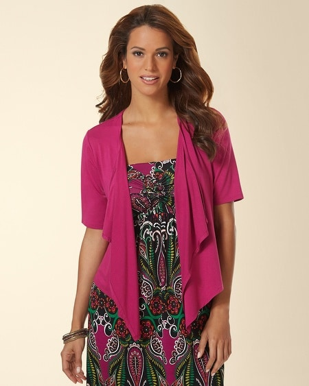 Short Sleeve Convertible Wrap Festival Fuchsia
