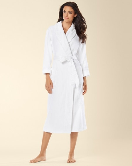 Luxe Terry Spa Long Robe White