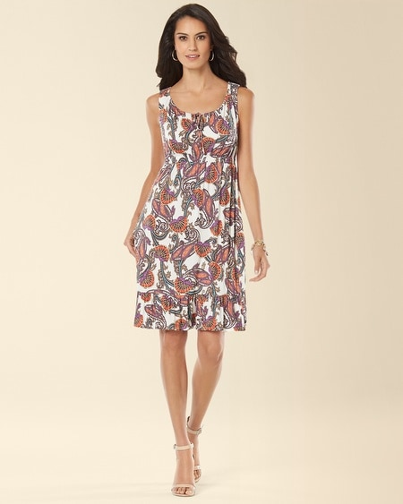 Ruffle Hem Short Dress Distinct Paisley