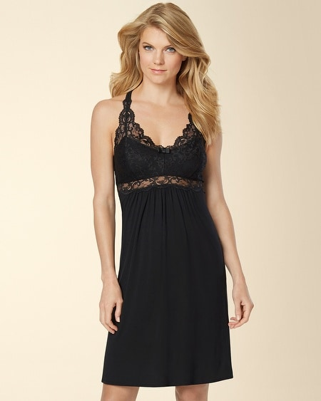 Eternal Lace Sleep Chemise Black