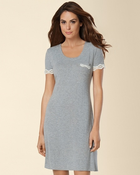 Fit and Flare Sleepshirt Little Dot Heather Silver