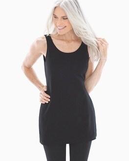 Pima Cotton Tunic Layering Tank Black by Live.Lounge.Wear.