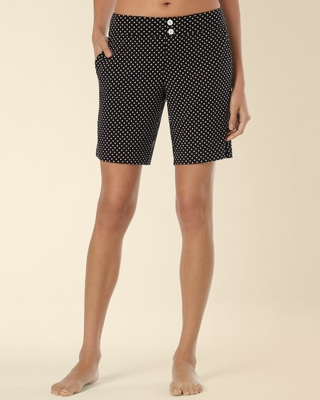 Pajama Bermuda Short Mod Dot Black