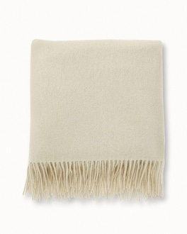 Arlotta Cashmere Throw Blanket Marshmallow