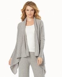 Arlotta Drape Front Cashmere Wrap Heather Grey