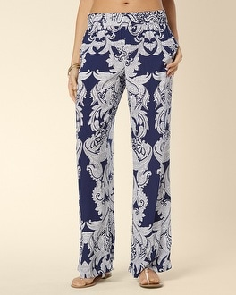 Cover Up Smocked Waistband Pant Perfect Paisley Medievel