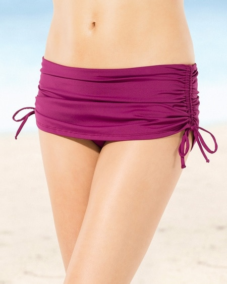 Tommy Bahama Adjustable Swim Skirt Bottom Magenta