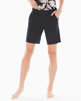 Cool Nights Bermuda Pajama Shorts Black