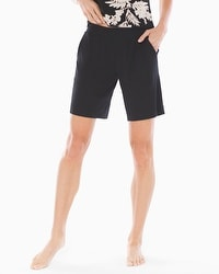 Embraceable Cool Nights Bermuda Pajama Shorts Black