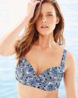 Soma Swim Bra Cup Sized Bikini Top Coastal Tile
