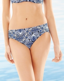 Soma Swim Slimming Foldover Hipster Bottom Coastal Tile