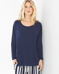Soft Jersey Boxy Tunic Navy