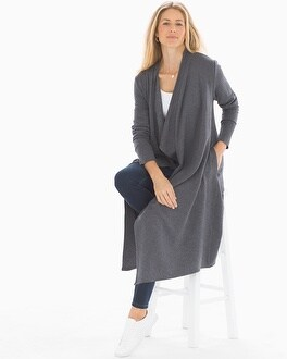 Fine Fleece Long Wrap Heather Quartz by
