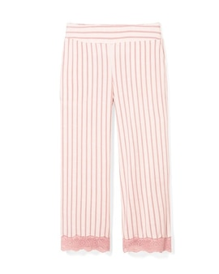 Cool Nights Lace Trim Crop Pajama Pants Heritage Stripe Peach 4e0bce5a9